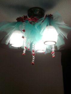 lámpara de cristal para niña