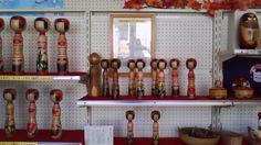 Takase Tokio 高瀬時男 (1928-2011), kokeshi inside Takase workshop, Lake Towada, June 2011