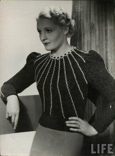 1930s : knitwear