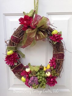A personal favorite from my Etsy shop https://www.etsy.com/listing/249701024/fall-wreath-autumn-wreath-flower-wreath