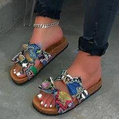Flat With Flip Flop Slip-On Bow Plain Summer Slippers – lokeeda Cute Sandals, Open Toe Sandals, Cute Shoes, Summer Sandals, Yellow Sandals, Bow Sandals, Heeled Sandals, Flat Sandals, Women's Shoes