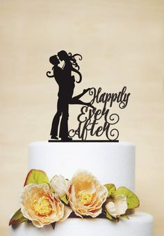 Wedding Cake Topper Happily Ever After by AcrylicDesignForYou