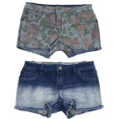 Reversible Denim Shorts (Sizes 1, 3, 7, 9, 11) Get two looks for the price of one! Indigo ombré on one side, and floral on the reverse side. Sizes 1 to 11 available (see size chart). NWT Jeans