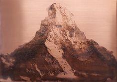 Matterhorn Copper, Mountains, Nature, Prints, Travel, Naturaleza, Viajes, Destinations, Brass