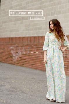 0a92e73c617 DIY peasant maxi wrap dress (C C)