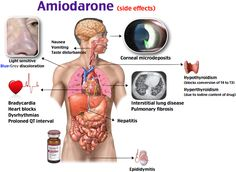 Amiodarone side effects Should monitor pulmonary function