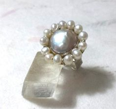 silver ring with fresh water pearlswild by PhiniJewel on Etsy, $70.00