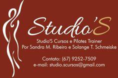 Stúdio'S Curso e Pilates Trainer em Campo Grande/MS Promovendo Cursos na Área de Pilates e da saúde em geral, informações pelo e-mail: contato@studioscursos.com ou pelos telefones: (67) 3213-5743 ou cel/whatsapp (67) 9252-7509.