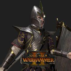 Total War: Warhammer 2 -Dark Elf Warriors, Matthew Davis on ArtStation at https://www.artstation.com/artwork/rwwx5