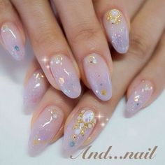 Pin by Nagel Kunst on Japanische Nagelkunst in 2020 Asian Nail Art, Asian Nails, Korean Nail Art, Pretty Nail Art, Cute Nail Art, Cute Nails, Soft Nails, Gel Nails, Pastel Nails