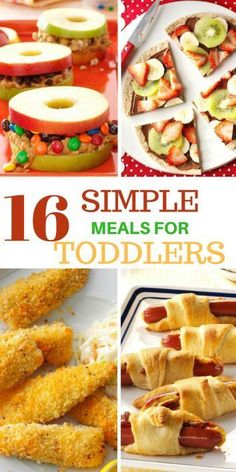 16 Super Simple Meals For Toddlers Here is a list of tried and trusted simple meals your toddler will definitely love, I did a thorough research before bringing you this list, this makes the list a well-proven list of meals. Lunch Recipes, Easy Dinner Recipes, Baby Food Recipes, Easy Meals, Simple Meals For Dinner, Kid Recipes, Gourmet Recipes, Dinner Ideas, Healthy Toddler Snacks