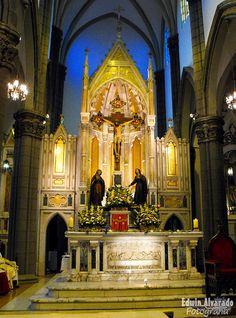 Altar Iglesia El Calvario , Calvary Church, El Salvador