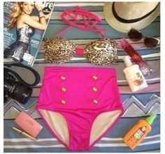 Leopard high waist bikini