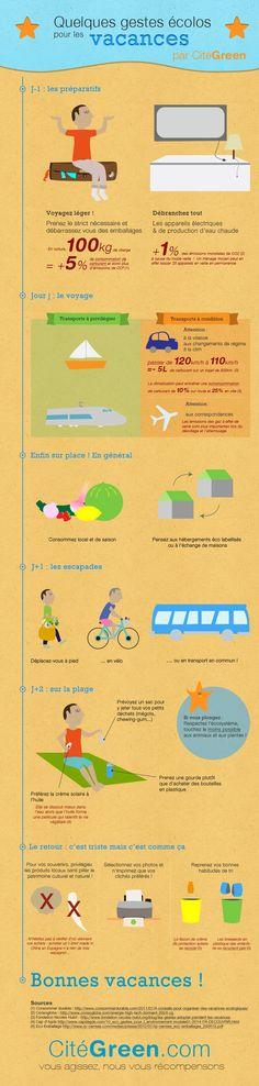 Soyez écolo, même en vacances ! | CitéGreen | Renseignez-vous sur l'actualité Ecolo !