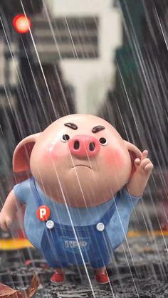 Tarjetas Diy, Pig Wallpaper, Pig Pig, Little Pigs, Anime Art Girl, Animation, Wallpapers, Disney Characters, Illustration
