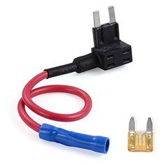AUTO-VOX Autostromkreis Sicherungshalter - Standard 5 AMP - Unterst�tzung Anschluss Auto-DVR / R�ckspiegel-Monitor und andere Ger�te (Klein)