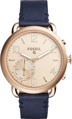 Fossil - Q Tailor Smartwatch 40mm Stainless Steel - Rose gold, FTW1128