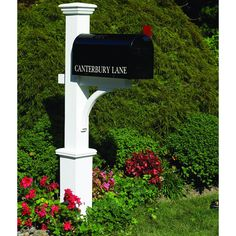 Lazy Hill Farm Designs Canterbury Mailbox Post (Canterbury Mailbox Post), White (Wood)