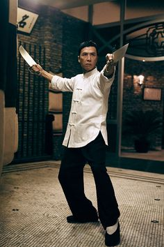 Donnie Yen with double butterfly knife in Ip Man 3
