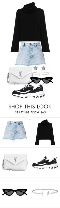 """Untitled #23705"" by florencia95 ❤ liked on Polyvore featuring T By Alexander Wang, Chloé, Yves Saint Laurent, Le Specs and Gucci"