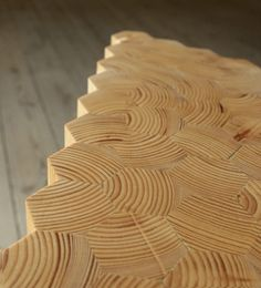 Grain stackable stool designed by Troels Flensted, Flensted Studio, Copenhagen. Prototype.