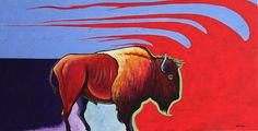 Bison painting by Joe Triano