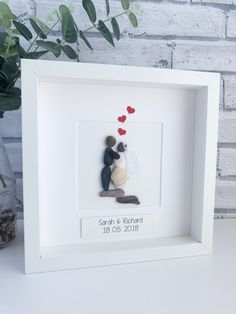 New Screen Wedding Framed Pebble Art Wedding Pebble Picture Personalized Pebble Picture . Ideas From the moment someone appears likely potty, they sustain waiting for something. Handmade Wedding Gifts, Personalized Wedding Gifts, Gift Wedding, Sea Glass Crafts, Sea Glass Art, Stone Crafts, Rock Crafts, Work Anniversary, Picture Gifts
