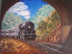 Choo Choo Painting   Original pattern by Robert Warren