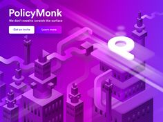 Policy Monk - Isometric illustration by Abinash Mohanty - Dribbble
