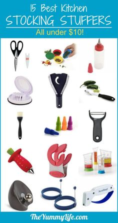 15 Best Stocking Stuffers--all under $10! These are unique kitchen gadgets that are tried and true. TheYummyLife.com
