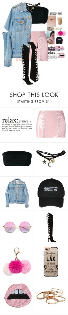 """I'm a tiny penny rolling up the walls."" by thaijohnson ❤ liked on Polyvore featuring WALL, Maria ke Fisherman, Balmain, Wet Seal, Alexandre Vauthier, Casetify and Kendra Scott"