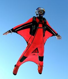 Who's up for a wingsuit race?!