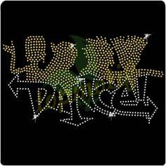 Hot Fix Transfer Dance Rhinestone Designs Pattern