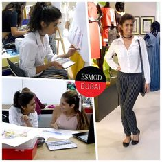 #ITLO Esmod Dubai 2nd Year student Simran @simrankamraofficial Day 3. Her look today is classic chic with a blouse from #hongkong and #pinstripe pants from @veromoda. She keeps things simple with a bag also from #hongkong #balletflats from @aldo_shoes and a @garageclothing choker. Its been a very challenging week but I really like this project so far. The life drawing sessions has also helped me become faster with my drawing. Join the next Fashion Design Undergraduate Program starting…