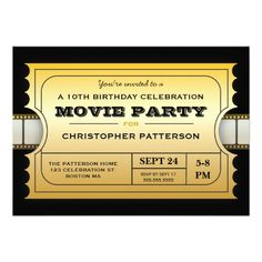 Movie Party Birthday Party Admission Gold Ticket Personalized Invitation today price drop and special promotion. Get The best buyThis Deals Movie Party Birthday Party Admission Gold Ticket Personalized Invitation Online Secure Check out Quick and Easy. Movie Party Invitations, Pink Invitations, Personalized Invitations, Birthday Invitations, Invites, Quinceanera Invitations, Hollywood Invitations, Shower Invitations, Wedding Invitations
