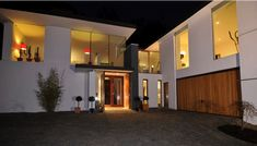 What an entrance. Front Door Entrance, Amazing Spaces, House On A Hill, Grand Designs, Architecture Design, Restoration, Sweet Home, New Homes, Layout