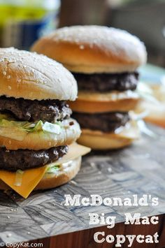 Try your hand at making your own McDonald's Big Mac with this recipe from CopyKat.com #copycat