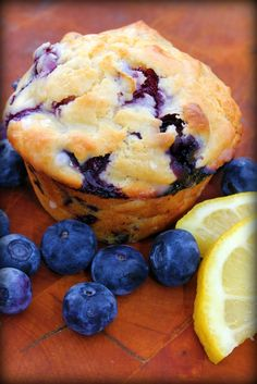 Lemon Blueberry Muffins <3 >>v nice... not too sweet... >>  Add more liquids or reduce the flour a bit...