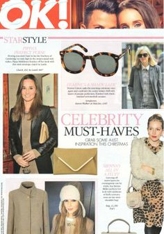 Celebrity Must Haves! The Capri Clutch from Lamb 1887 as seen on Pippa Middleton in OK!