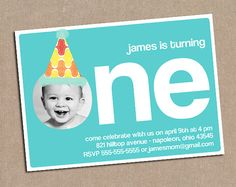 1st Birthday Invitation  Custom  Printable by DeliveredByDanielle