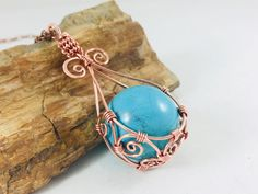 A personal favorite from my Etsy shop https://www.etsy.com/listing/591258567/copper-wire-wrapped-turquoise-sphere