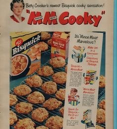 1951 Vintage Ad Betty Crocker Bisquick