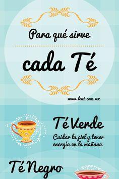 ¿Para que sirve cada tipo de té?