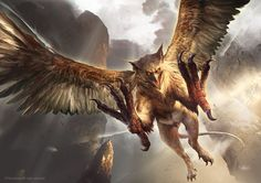 Gryphon by TheRafa monster beast creature animal | Create your own roleplaying game material w/ RPG Bard: www.rpgbard.com | Writing inspiration for Dungeons and Dragons DND D&D Pathfinder PFRPG Warhammer 40k Star Wars Shadowrun Call of Cthulhu Lord of the Rings LoTR + d20 fantasy science fiction scifi horror design | Not Trusty Sword art: click artwork for source