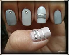 My nails! my nails! fall autumn nails, silver/mirror/strass nail art, elegant nails 2017/2018. Love them!