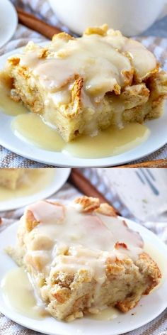 When it comes to easy recipes this Bread Pudding couldn't get any simpler. Filled with cinnamon and nutmeg this makes the perfect breakfast or dessert recipe. #breakfast #breadpudding #sauce #brunch #dessert #baking