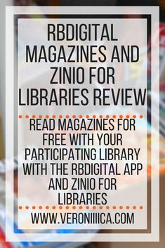 RBDigital Magazines and Zinio for Libraries app review. Read magazines for free from your participating library. Includes accessibility review for low vision and blind users.