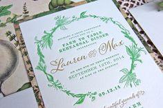 Rehearsal Dinner Invitation | by Tenn Hens Design / letterpress design