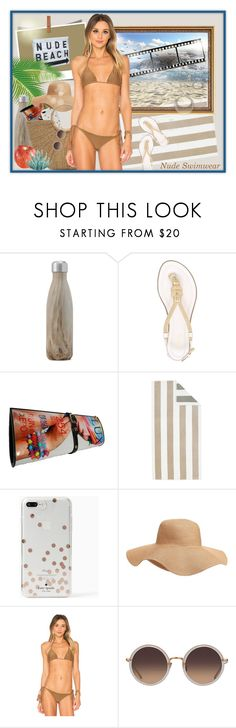 """""""Nude Beach"""" by runners ❤ liked on Polyvore featuring West Elm, MICHAEL Michael Kors, Pottery Barn, Kate Spade, Old Navy, Acacia Swimwear, Regina Andrew Design and Linda Farrow"""