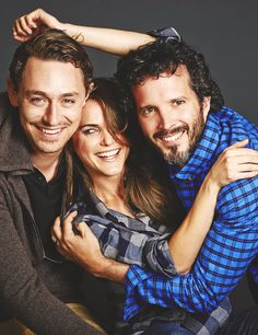 Adorable Austenland cast photo.  JJ Feild, Keri Russell, Bret McKenzie